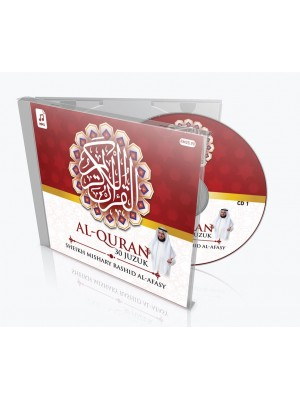 SHEIKH MISHARY RASHID AL-AFASY – Al-Quran 30 Juzuk (MP3 CD)